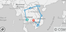 21 Days Thailand Laos Vietnam Cambodia - 22 destinations