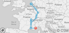 Rhine & Rhone 2020 (Start Amsterdam, End Marseille) - 17 destinations