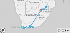 South Africa Escape - 14 Days - 23 destinations