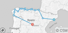 North of Spain (from Barcelona to Madrid) - 16 destinations