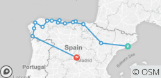 North of Spain (from Barcelona to Madrid) - 15 destinations