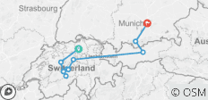 Top of Switzerland with Oberammergau (from Zurich to Munich) - 11 destinations