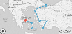 Istanbul to Athens - 14 days - 10 destinations