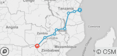 Malawi & Vic Falls - South (from Dar es Salaam to Victoria Falls) - 8 destinations