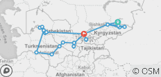 5 Stans of Central Asia Tour - 24 destinations