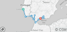 Cruising Spain, Portugal and Morocco: Lisbon to Malaga  - 17 destinations