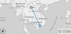 South Vietnam and Laos 7 days - 8 destinations