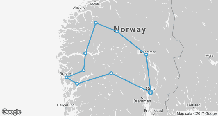 Best Of Norway NEW By Trafalgar TourRadar - Norway map highlights
