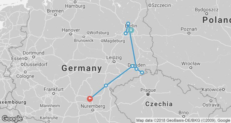 Easy bike sightseeing tour Berlin Dresden Bamberg by Bike