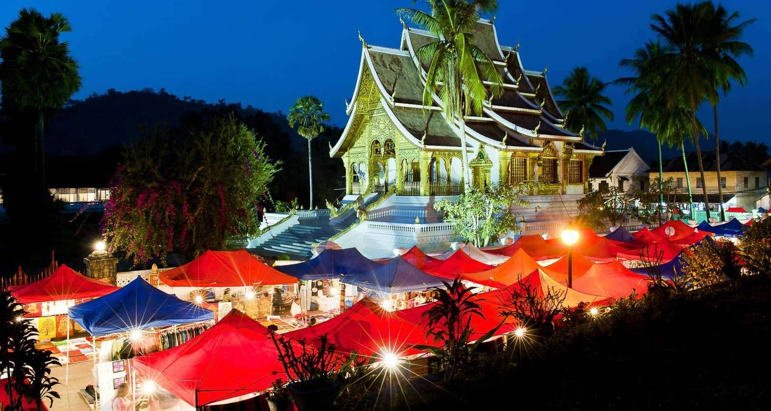Laos Package Tour from Luang Prabang to Pakse via Vientiane and Khuangsi Waterfall - DNQ Travel