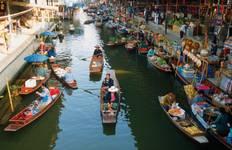 Phra Pathom Chedi & Floating Market Tour