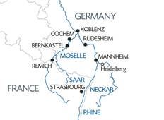 3 Rivers: the beautiful valleys of the Moselle, the romantic Rhine and the Neckar Tour