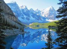 Canadian Rockies by Train featuring the Calgary Stampede (including Glacier Skywalk) Tour