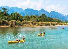 Best Selling Laos Family Tour from Vientiane to Luang Prabang via Vang Vieng Tour