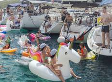 Croatia - All Inclusive Party Route Sail Experience - small group trip on a private yacht in a fleet of yachts Tour