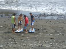Tunco Beach Surfing & Leon Volcano Boarding Tour