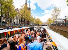 King\'s Day Boat Party and Amsterdam Accommodation (2 Nights) Tour