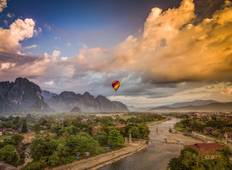 Exotic Laos Sightseeing Tour from Luang Prabang via Vang Vieng to Vientiane Tour