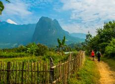 Surprising Laos Adventure Trekking Tour from Vientiane via Vang Vieng to Luang Prabang with Homestay Tour