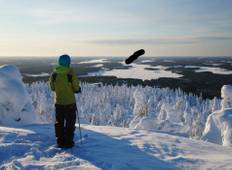 Back-country Skiing with Pulka in Finland Tour