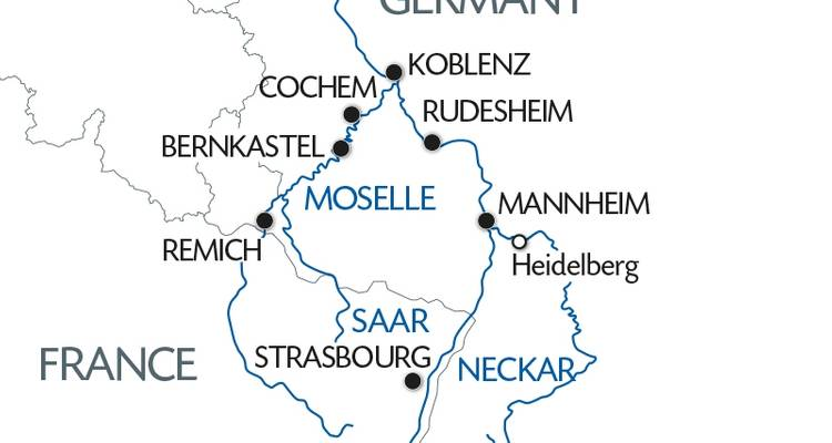 3 Rivers: the Beautiful Valleys of the Moselle, the Romantic Rhine and the Neckar - CroisiEurope River Cruises