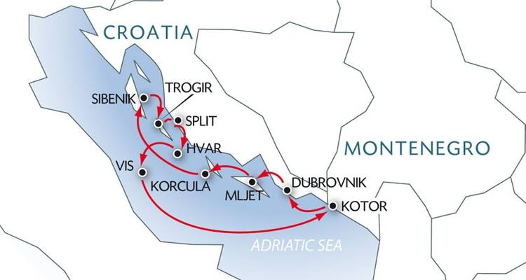 Croatia and Montenegro - Gorgeous Trails through the Islands and Mountains - CroisiEurope River Cruises
