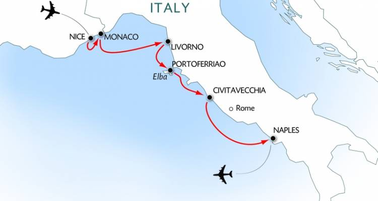 Breathtaking coastlines : The Riviera and Tuscany and the charming islands of Elba and Capri (port-to-port cruise) (from Naples to Nice) - CroisiEurope River Cruises