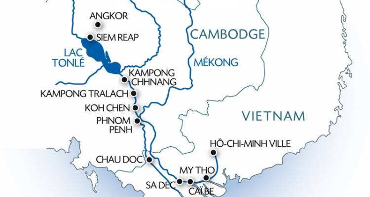 Travelling up the Mekong river (formula port/port without transfer) - CroisiEurope River Cruises