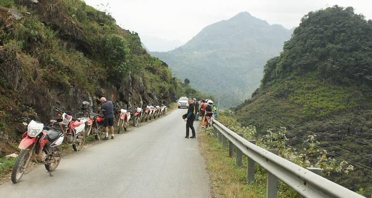 Hanoi Backroad Motorbike Tour to Mai Chau and Ta Xua peak - DNQ Travel