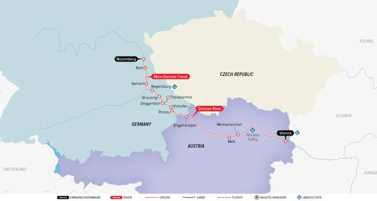 Authentic Danube (2020) (Nuremberg to Vienna, 2020) - Uniworld Boutique River Cruise Collection