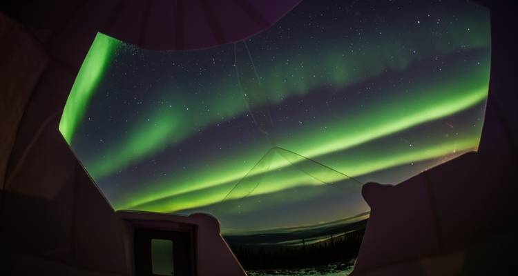 Fairbanks Hotel Package with Borealis Basecamp Aurora Viewing from Fairbanks - Globerouter