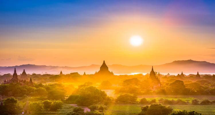 Magnificent sunrise and sunset view at Bagan with full day sightseeing - LM Travel Myanmar