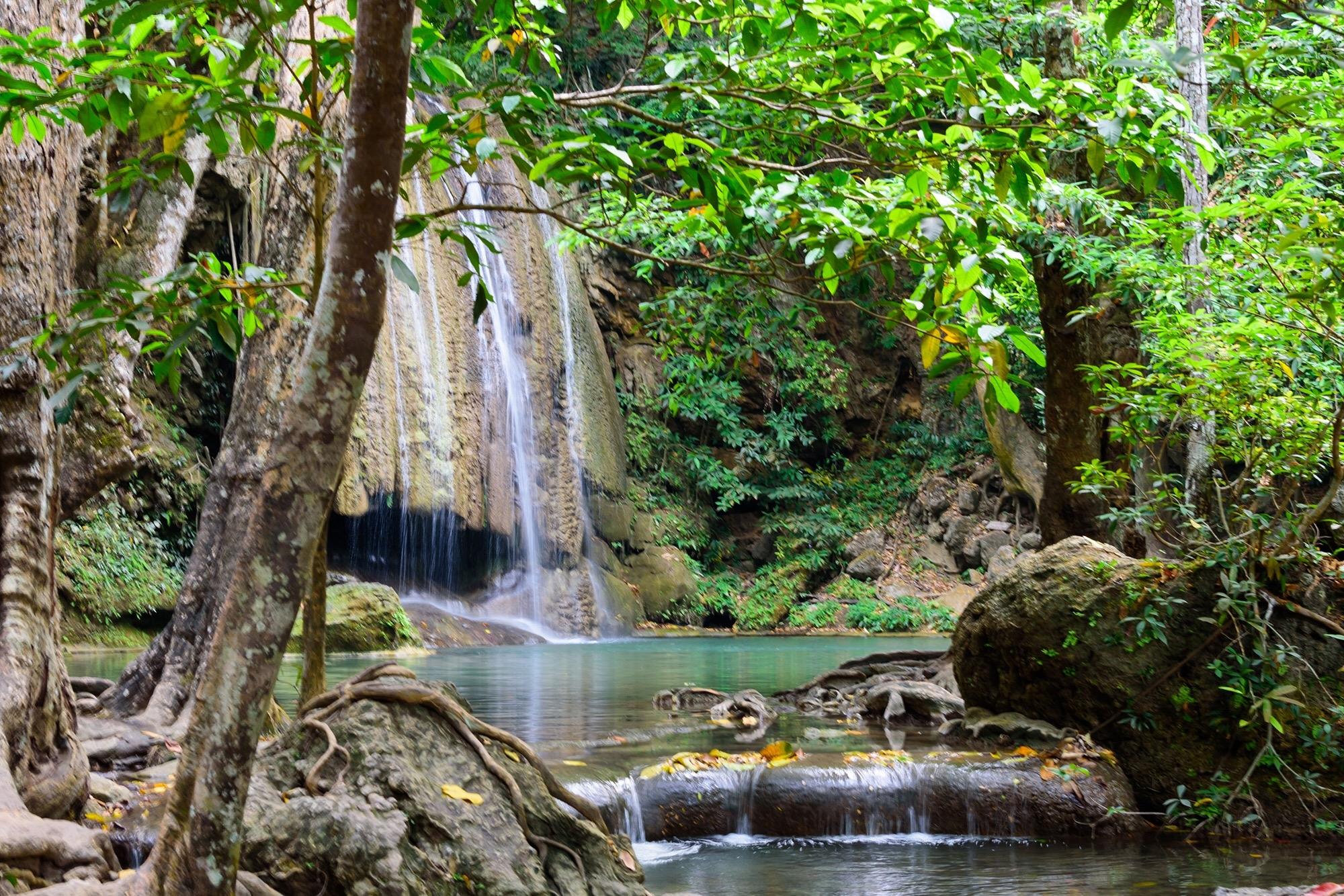 Erawan Waterfall and Kanchanaburi Highlights Tour from Bangkok